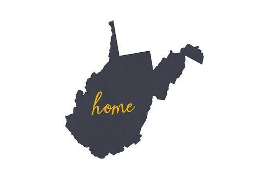 West Virginia - Home State - Gray on White-Lantern Press-Art Print
