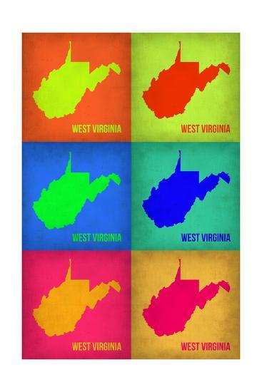 West Virginia Pop Art Map 1-NaxArt-Photo