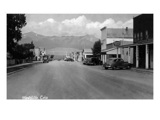 Westcliff, Colorado - Street Scene-Lantern Press-Art Print