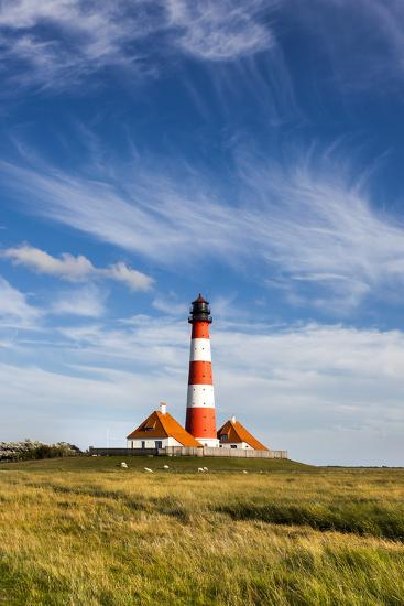 Westerhever Lighthouse, Eiderstedt Peninsula, Northern Frisia, Schleswig-Holstein, Germany-Sabine Lubenow-Photographic Print
