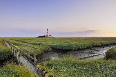 Westerhever Lighthouse, North Sea, Schleswig-Holstein, Westerheversand, Wadden Sea-Herbert Kehrer-Photographic Print
