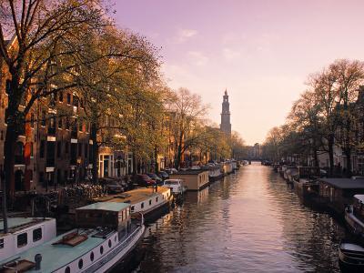 Westerkerk, Prinsengracht Canal, Amsterdam, Holland-Jon Arnold-Photographic Print
