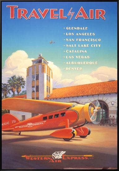 Western Air Express-Kerne Erickson-Framed Canvas Print