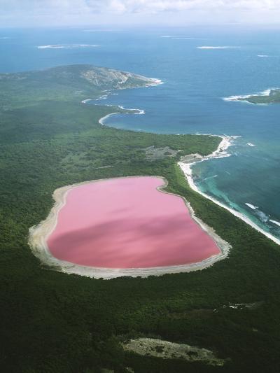 Western Australia Lake Hillier, Middle Island--Photographic Print
