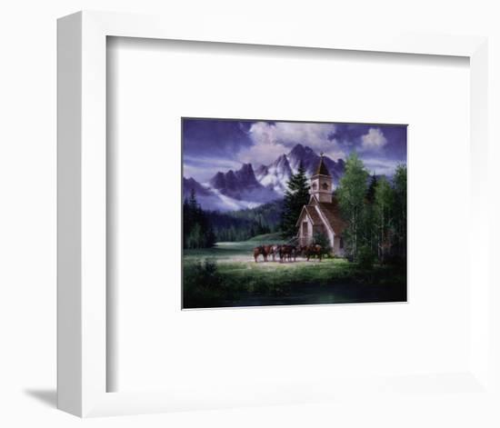 Western Church-Jack Sorenson-Framed Art Print