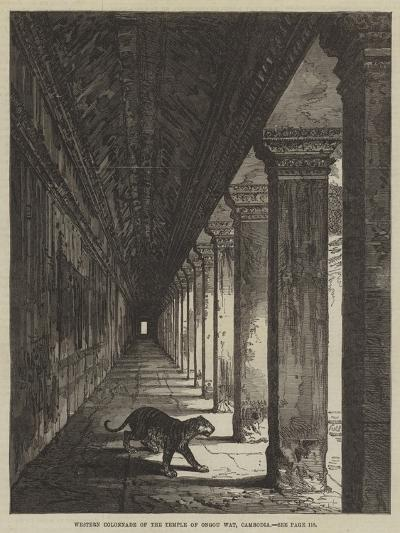 Western Colonnade of the Temple of Ongou Wat, Cambodia--Giclee Print