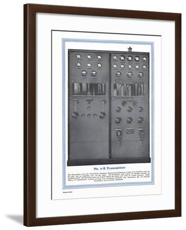 Western Electric Company's Model Number 6-B Transmitter for Radio Telephone Broadcasting Equipment--Framed Giclee Print
