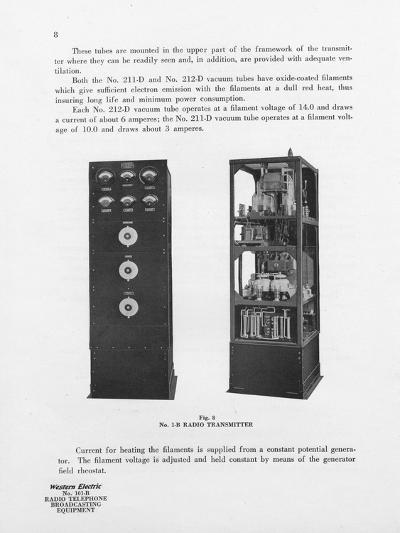 Western Electric Company's Number 1-B Radio Transmitter--Giclee Print