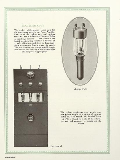 Western Electric Company's Rectifier Unit--Giclee Print