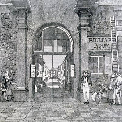 Western Entrance to Exeter Change, Westminster, London, 1829--Giclee Print