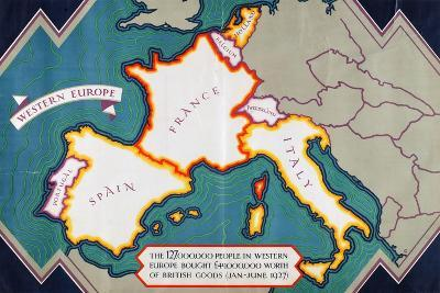 Western Europe, from the Series 'Where Our Exports Go'-William Grimmond-Giclee Print