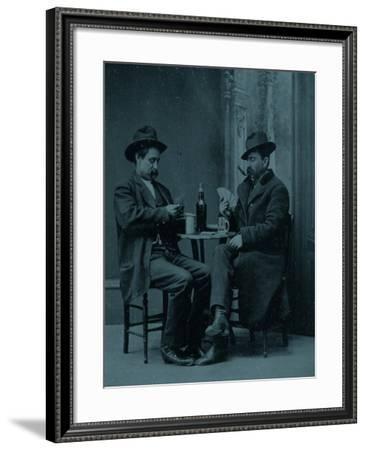 Western Gamblers--Framed Art Print