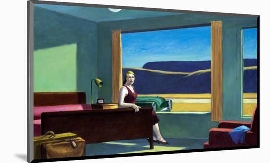 Western Motel-Edward Hopper-Mounted Premium Giclee Print