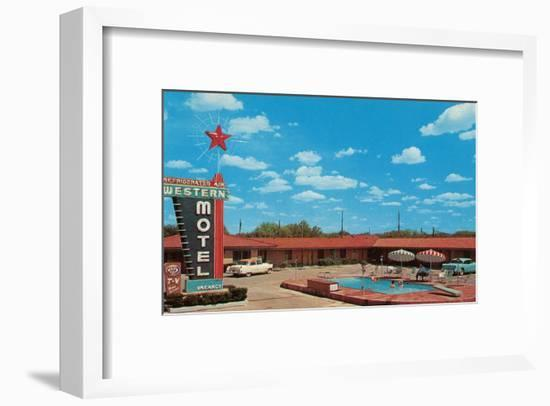 Western Motel--Framed Art Print