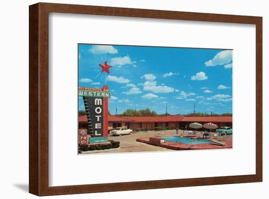 Western Motel--Framed Art Print