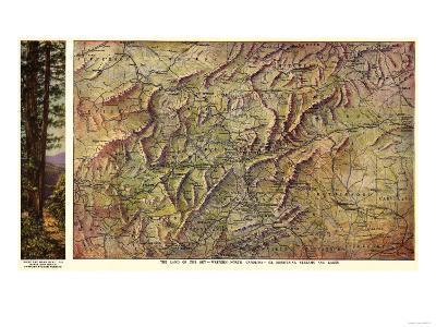 Western North Carolina - Panoramic Map-Lantern Press-Art Print