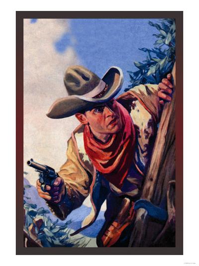 Western Story Magazine: On the Black Ridge--Art Print