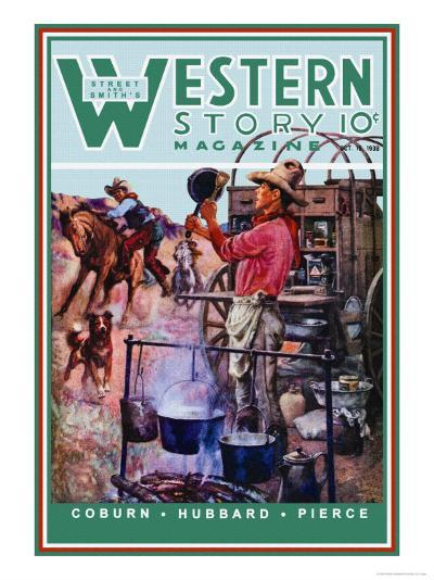 Western Story Magazine: Supper Time-Walter Kaskell Kinton-Art Print