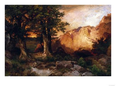 Western Sunset, 1897-Thomas Moran-Giclee Print