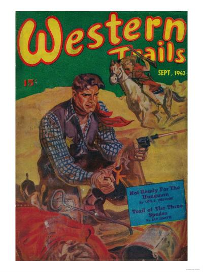 Western Trails Magazine Cover-Lantern Press-Art Print