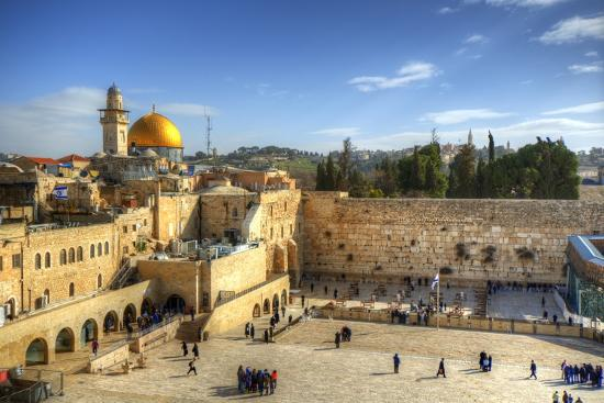 Western Wall and Dome of the Rock in the Old City of Jerusalem, Israel.-SeanPavonePhoto-Photographic Print