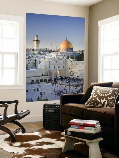 Western Wall and Dome of the Rock Mosque, Jerusalem, Israel-Michele Falzone-Giant Art Print