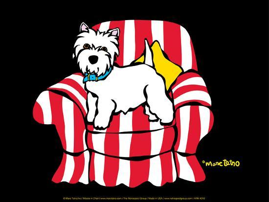 Westie in Chair-Marc Tetro-Art Print