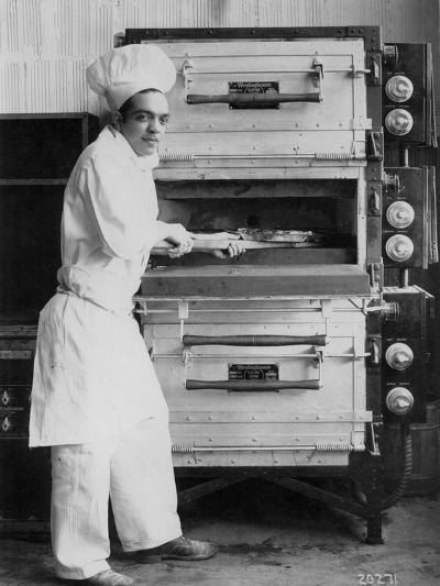 Westinghouse Electric Baking Oven, Cafeteria Kitchen, Showing a Chef at Work, 1927--Photographic Print