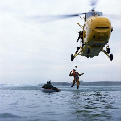 Westland Whirlwind Helicopter Making a Rescue, 1973-Michael Walters-Photographic Print
