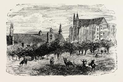 Westminster Abbey and Hall in the 15th Century--Giclee Print