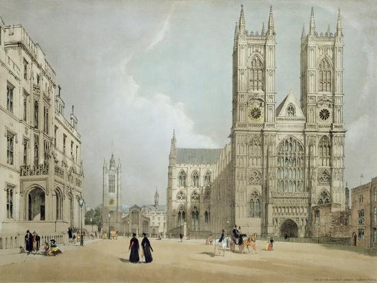 Westminster Abbey and Hospital, from 'London as it Is', Engraved and Published by the Artist, 1842-Thomas Shotter Boys-Giclee Print