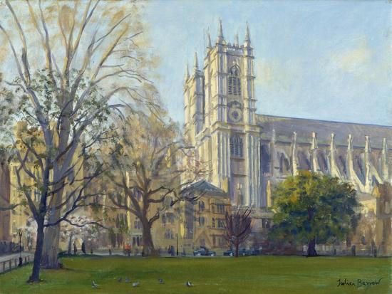 Westminster Abbey from Dean's Yard-Julian Barrow-Giclee Print