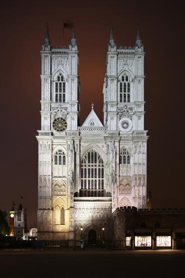 Westminster Abbey in the City of Westminster, London, England-David Bank-Photographic Print