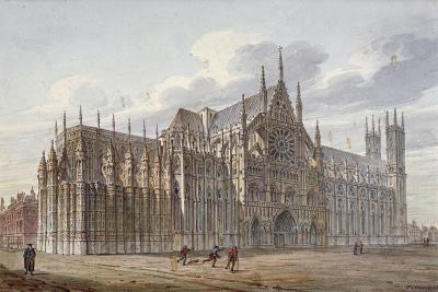 Westminster Abbey, London, 1816-John Coney-Giclee Print