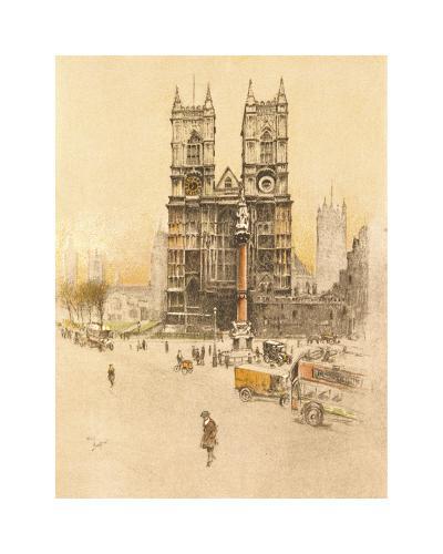 Westminster Abbey-Cecil Aldin-Premium Giclee Print