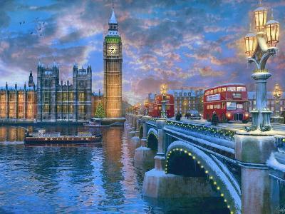 Westminster at Christmas-Dominic Davison-Art Print