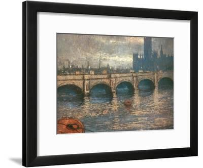 Westminster Bridge and the Houses of Parliament in London, 1900-04-Claude Monet-Framed Giclee Print