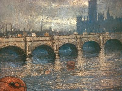 Westminster Bridge and the Houses of Parliament in London, 1900-04-Claude Monet-Giclee Print