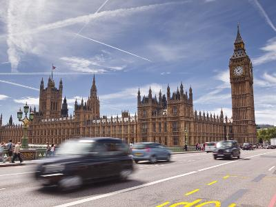 Westminster Bridge and the Houses of Parliament, Westminster, London, England, UK, Europe-Julian Elliott-Photographic Print