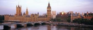 Westminster Bridge, Big Ben, Houses of Parliament, Westminster, London, England