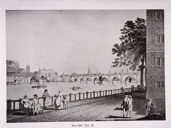 Westminster Bridge, London, C1925-Thomas Malton II-Giclee Print