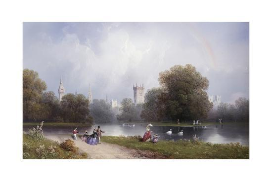 Westminster from St. James's Park-Carlo Bossoli-Giclee Print