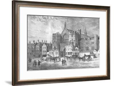 Westminster Hall, 1808- Swain-Framed Giclee Print