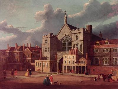 Westminster Hall and New Palace Yard-Thomas Sandby-Giclee Print