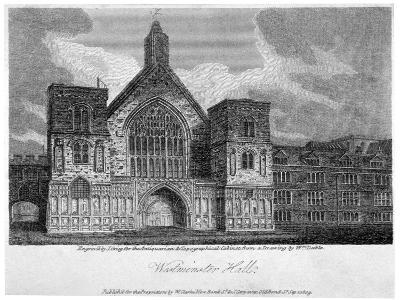 Westminster Hall from New Palace Yard, London, 1809-John Greig-Giclee Print