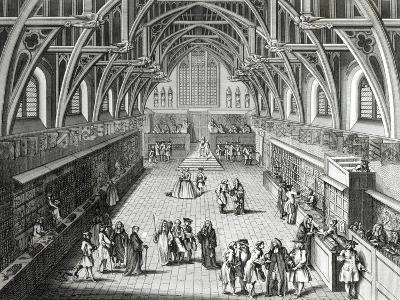 Westminster Hall, the First Day of Term, a Satirical Poem, 1797 Engraved by c.Mosley-Hubert Gravelot-Giclee Print
