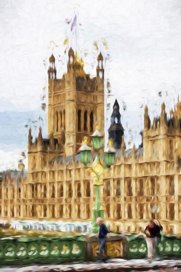 Westminster - In the Style of Oil Painting-Philippe Hugonnard-Giclee Print