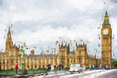Westminster Palace - In the Style of Oil Painting-Philippe Hugonnard-Giclee Print
