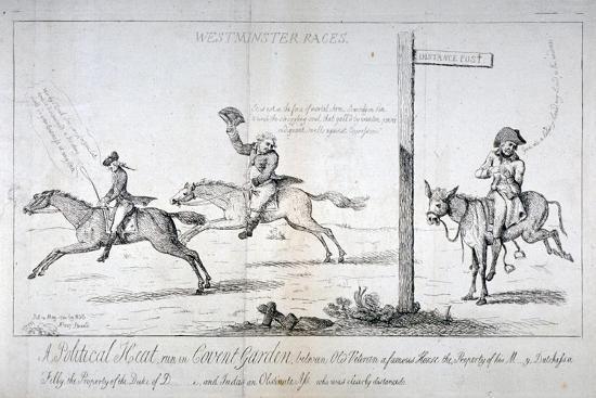 Westminster Races..., 1784-Isaac Cruikshank-Giclee Print