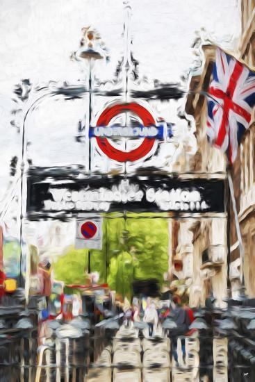 Westminster Station - In the Style of Oil Painting-Philippe Hugonnard-Giclee Print